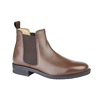 Roamers Brown Leather Gusset Boot Padded Upper Leather Quarter Lining Fuller Fitting Flexi Tr Sole