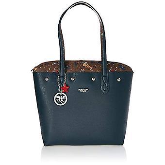 piero gui diveto Tote Reversible Women's Bag (Black/College) 34.5x29.5x14 cm (W x H x L)