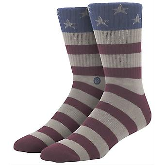 Stance The Fourth Socks - Red/Beige/Blue