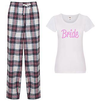 Morsian Tartaani Housut Pyjamat