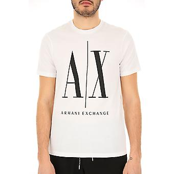 Armani Exchange 8nztpazjh4z5100 Men's White Cotton T-shirt