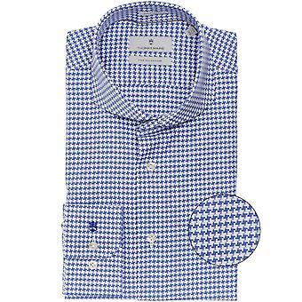 Thomas Maine Tailored Fit Houndstooth Bari Shirt