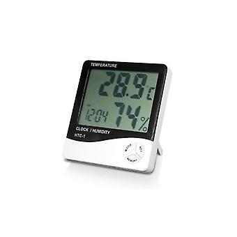 Lcd Digital Thermometer For Temperature And Humidity With Clock And Alarm