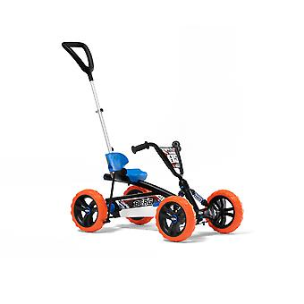 BERG Buzzy Nitro 2-in-1 Pedal Go Kart With Parental Push Bar Blue/Orange Ages