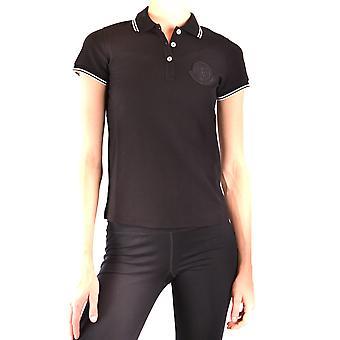 Moncler Ezbc014085 Women's Black Cotton Polo Shirt