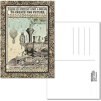 Stamperia Ansichtkaart 10x15cm Voyages Fantastiques Trein