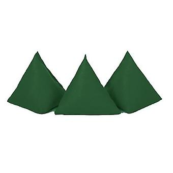 Gardenista | Pakket van 5 | Duurzame katoenen stof | Driehoeksvormig | Jongleren Throw Bean Bags | Tuinspelen | PE en Sport | Binnen en buiten | Groene
