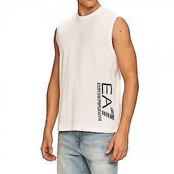EA7 Emporio Armani Logo Sleeveless T-Shirt White 3HPT80 PJ02Z