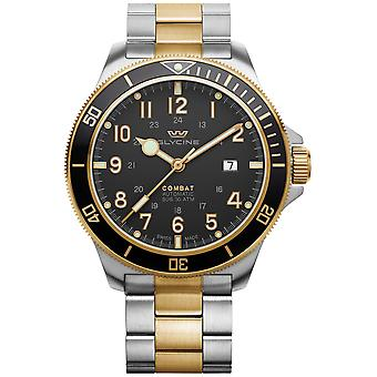 Combat Analog Men's Automatic Watch with GL0293 Stainless Steel Bracelet