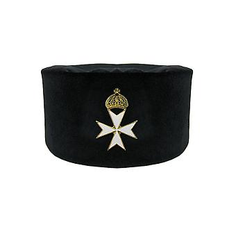 Knights templar & knights malta prior cap with badge