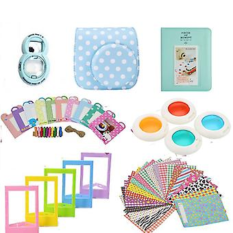 Accessory Sets for Fujifilm Instax Mini 8/9-Dotted blue