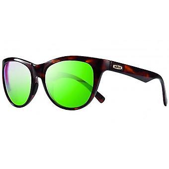 Revo Barclay Polarized Sunglasses Shiny Tortoise, Green Water RE1037