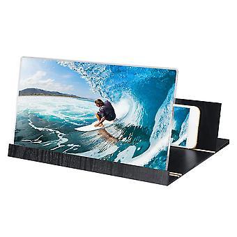 12 & ونقلت الخشب قابلة للطي 3D HD شاشة الهاتف مكبر صوت الفيديو مكبر للصوت للهاتف الذكي iphone xs ماكس سامسونج غالاكسي s10 +