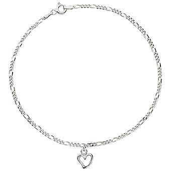 Tornozelo tornozelo tornozelo coração 925 anel de pena de prata esterlina