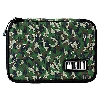 Bag for storing cords, electronics - Green
