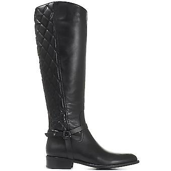 Jones Bootmaker Femmes Matelassé Cuir Knee High Boot