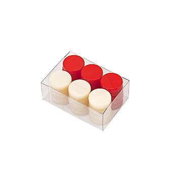 Deluxe Backgammon Stones Red & Ivory 26mm