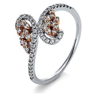 Diamond Ring Ring - 750/- GG/WG - 0.35 ct. - 1R214RW854 - RW: 54