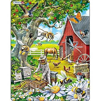 Larsen Jigsaw Puzzle - Busy Bees And The Beekeeper, 53 Piece