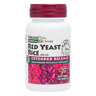 Nature's Plus Herbal Actives Extended Release Red Yeast Rice 600mg Tabs 30 (7360)