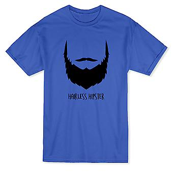 "Beard Face Graphic Silhouette ""Hipster On"" Quote Men's T-shirt"