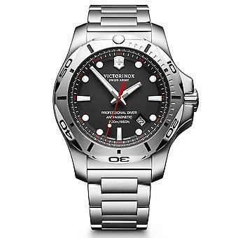 Victorinox Swiss Army I.N.O.X Professional Diver Black Dial Silver Stainless Steel Bracelet Men's Watch 241781 RRP £579
