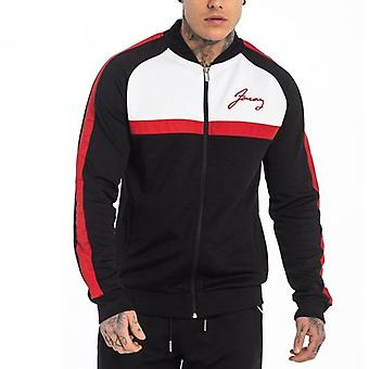 Foray Marlon Poly Full Zip Track Top Noir/Rouge