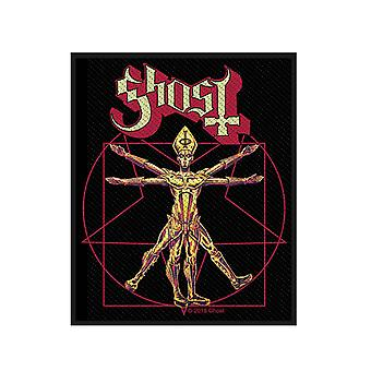 Ghost Patch The Vitruvian Ghost Band Logo new Official 10cm x 7.5cm woven sew on