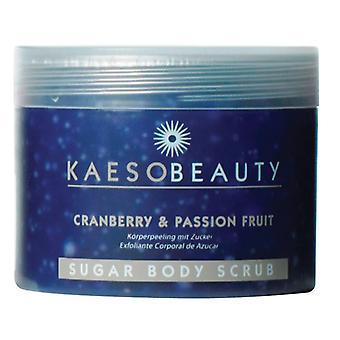 Kaeso cranberry & passion fruit sugar body scrub 450ml