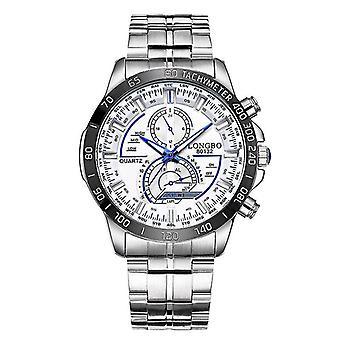 Leuchtende Männer Edelstahl Quarz Armband Uhr Datum sdag