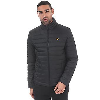 Men's Lyle And Scott Sport Lightweight Quilted Jacket in Black