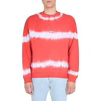Msgm 2840mm21520709794 Mænd's Rød bomuld sweatshirt
