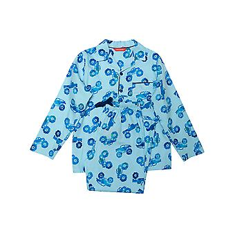 Minijammies Dylan 6492 Boy's Blue Mix Monter Truck Print Pyjama Set