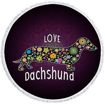 الحب Dachshund الكلب بيتش منشفة