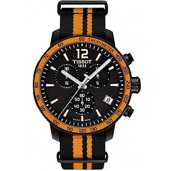 Tissot T095.417.37.057.00 Quickster Orange Synthetic Nylon  Men's Watch