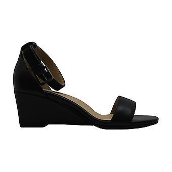 Naturalizer Women's Zenia Shoe, Black Leather, 4.5 M US