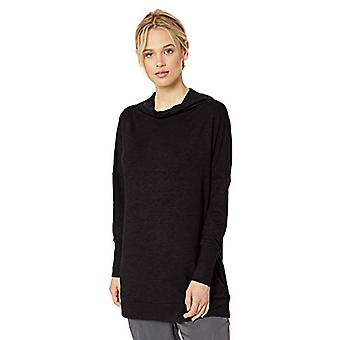 Brand - Daily Ritual Women's Cozy Knit Modern Funnel-Neck Tunic, Black, X-Large