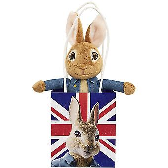 Rainbow Designs Peter Rabbit Movie Soft Toy in Union Jack Bag