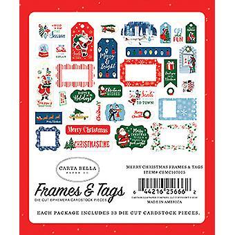 Carta Bella Merry Christmas Frames & Tags
