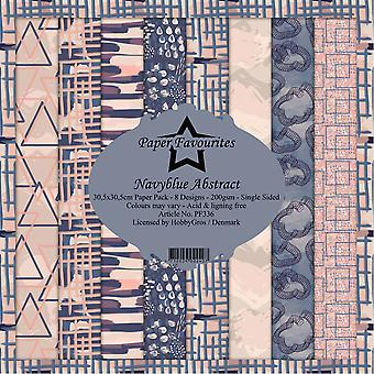Paper Favourites Navyblue Abstract 12x12 Inch Paper Pack