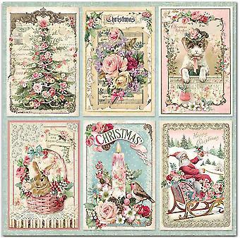 Stamperia الوردي بطاقات عيد الميلاد 12x12 بوصة ورقة ورقة (10pcs) (SBB702)