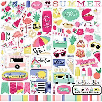 Echo Park Best Summer Ever 12x12 Inch Element Sticker