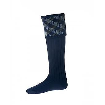 House of Cheviot Country Socks Granton ~ Navy