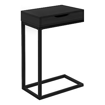 """16"""" X 10.25"""" X 24.5"""" Black Metal With A Drawer Accent Table"""
