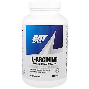 GAT, L-Arginine, Gratis formulier, 180 tabletten