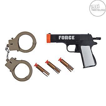 Poliisi asettaa 5kpl. Carnival Lasten Set Boys Poliisi Ase Käsiraudat