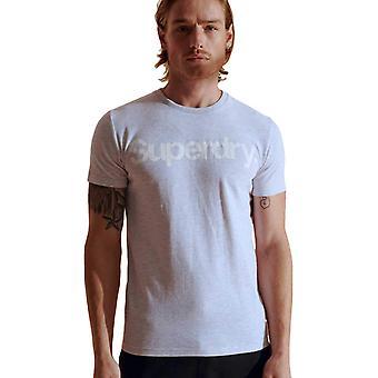 Superdry Core Logo T-paita Vaaleanharmaa 75