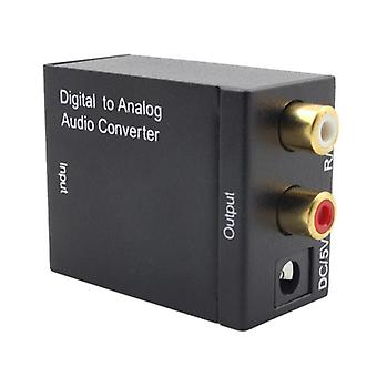 Digital Optical Spdif Toslink Coaxial Signal- To Analog Converter Stereo Audio