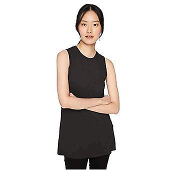 Brand - Daily Ritual Kvinder 's Jersey Muscle-Sleeve Swing Tunika, Sort, Medium
