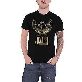 Gene Loves Jezebel T Shirt Band Logo new Official Mens Black